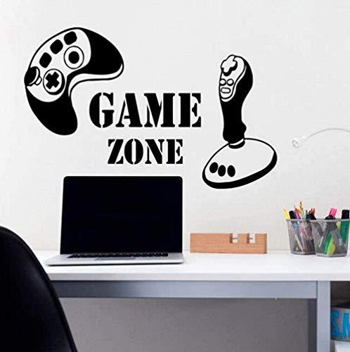 Wall Decalsgame Zone Vinyl Aufkleber Game Controller Gamer Joystick Playstation Jungen Kinderzimmer Kinderspielzimmer Wandtattoos 90X58Cm