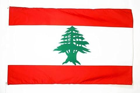 DRAPEAU LIBAN 250x150cm - GRAND DRAPEAU LIBANAIS 150 x 250 cm - AZ FLAG