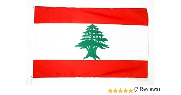 Drapeau de Bateau libanais 30 x 45 cm AZ FLAG Pavillon Nautique Liban 45x30cm