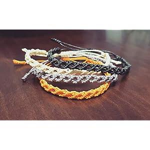 Grundlegendes Armband aus Macramé-Rhombos-Armbändern Garn Bijoux/Macrame-Armband Viel Glück