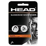 Head Djokovic Dampener, uniseks, volwassenen, schokabsorptiecomfort, wit, 2 stuks, één maat