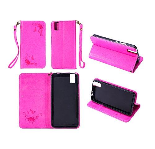 Cozy Hut Huawei ShotX/Honor 7i Hülle   Lederhülle   Handyhülle   Schutzhülle   Handytasche   Tasche   Cover   Case Für Huawei ShotX/Honor 7i - Rose Red