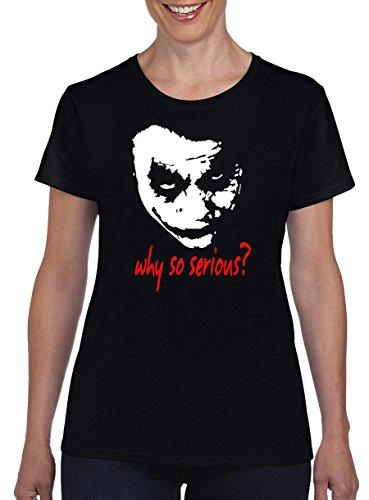 TSP Joker Why so Serious? Damen T-Shirt M Schwarz