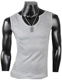 Herren Tanktop Tank top Muskelshirt Fitness T shirt Achselshirt Body Body V Ausschnitt