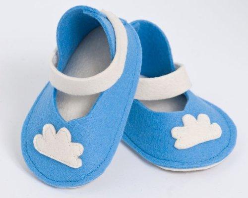 Handgefertigt wunderschönen Baby Schuhe von höchster Qualität Wolle Himmelblau