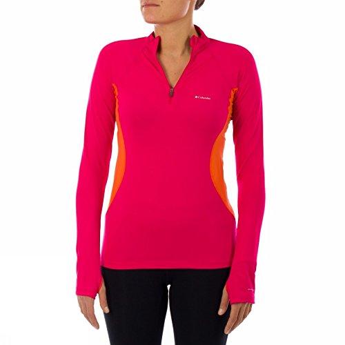 Columbia Baselayer Ls Zip Al6655 600 Womens Shirt