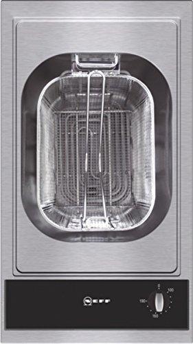 Neff NK 3430 N Kochfeld Elektro / edelstahl / 30,6 cm / Elektro-Fritteuse mit integriertem Temperaturregler / schwarz