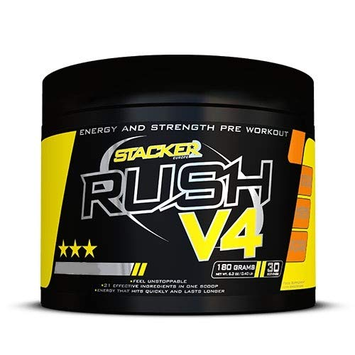 Stacker2 Rush V4 (30 serv) Tropical, 180 g