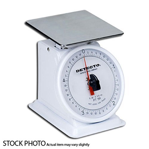 Detecto Top Loading Food Portion Scale Stainless Steel Finish, 500 Grams by Detecto Detecto Top