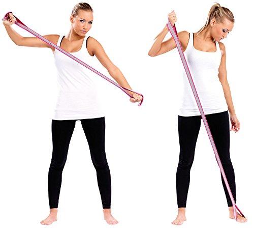 Speeron Fitnessband Gummi: Fitnessband - Gummiband mit Handschlaufen, 85 cm (Elastikband mit Schlaufen)