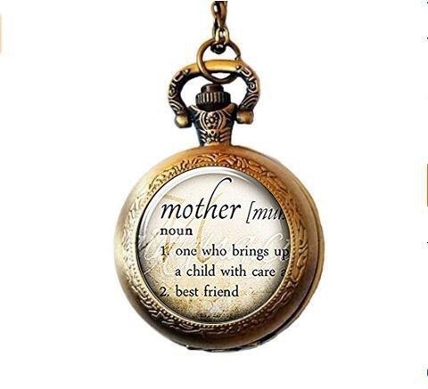 hr Halskette, Wörterbuch Definition Taschenuhr Halskette, Mom Taschenuhr Halskette ()