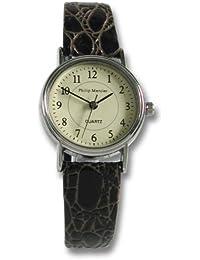 Philip Mercier SML05/B - Reloj de mujer de cuarzo color marrón