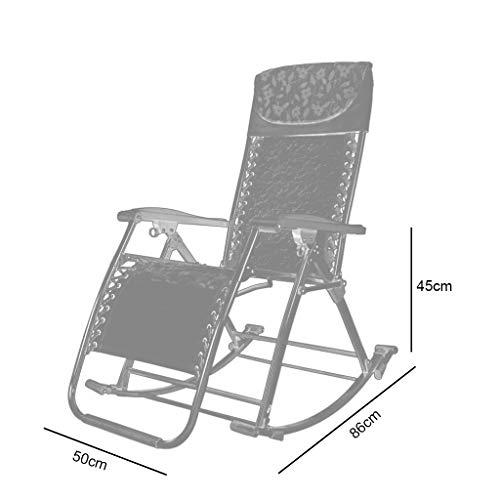 Rocking chair Fauteuil à Bascule Health UK Pliable avec Coussins Multifonction Pratique pour Se détendre ou Se détendre, Métal, Marron, Bamboo Mat