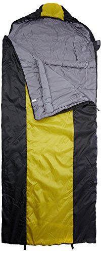 10T Selawik 100XL Single Blanket Sleeping Bag 230x100 Cm Comfort Size With Hood Blackyellow Up To 3C