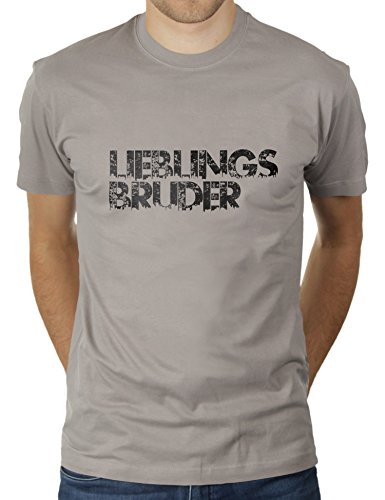 4 Light Post Oben (Likoli Lieblingsbruder Urban City Line - Herren T-Shirt von KaterLikoli, Gr. L, Light Gray)
