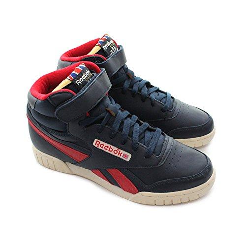Reebok Exofit Plus Hi Vintage L, Herren Sneaker , Blau navy/rot