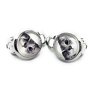 Kinder Ohrclips Kätzchen 10mm Motiv Mädchen Cabochon Ohrringe handgefertigt by Schmuckphantasien in silber auch als…