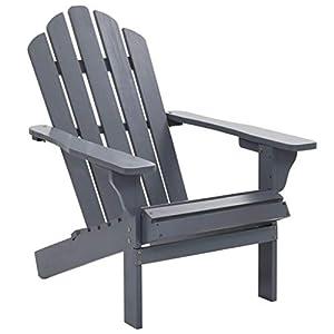 Festnight Adirondack-Stuhl   Gartenstuhl   Terrasse Adirondack Stuhl   Grau Hartholz und Kiefernholz 70,5 x 96 x 92 cm