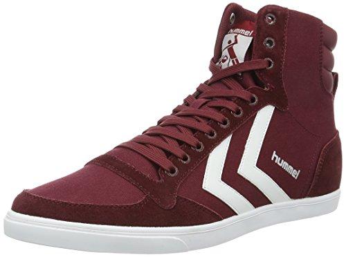 Hummel Unisex-Erwachsene Slimmer Stadil High Top, Rot (Cabernet), 45 EU (Erwachsenen Schuhe, Lifestyle-schuhe)