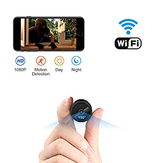 AOBO Spy Camera WiFi Hidden Camera Mini Wireless HD 1080P Indoor Home Small Spy Nanny Cam Security Cameras Battery Powered with Motion Detection/Night Vision for iPhone/Android Phone/iPad/PC
