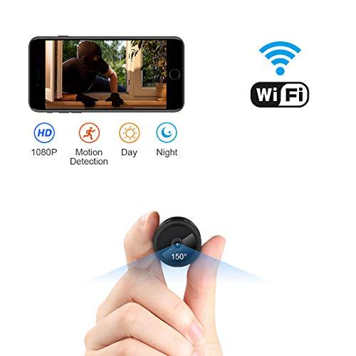 Mini Caméra Espion AOBO IP WiFi Cachée Cam HD1080P Vision Nocturne Détection de Mouvement Caméra de Surveillance de Sécurité pour iPhone/ Android/ Support Maximum Carte