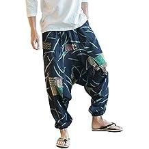 Pantalones De Harén Bombachos Hombre Mujer 251813b597bc