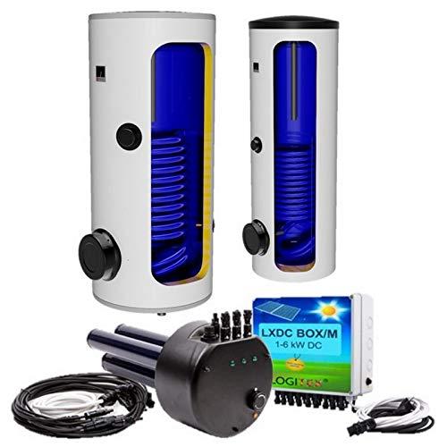 160 200 250 300 400 500 L Liter Hybrid, elektrische Standspeicher, Warmwasserspeicher mit 1 Wärmetauscher für elektrischen Betrieb und Photovoltaikbetrieb...