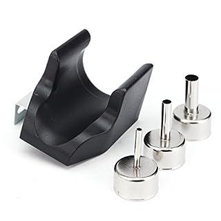 MJJEsports Hot Air Gun Handle Bracket with 3Pcs Nozzle for QUICK ATTEN 858D 858 868D 878D 898D