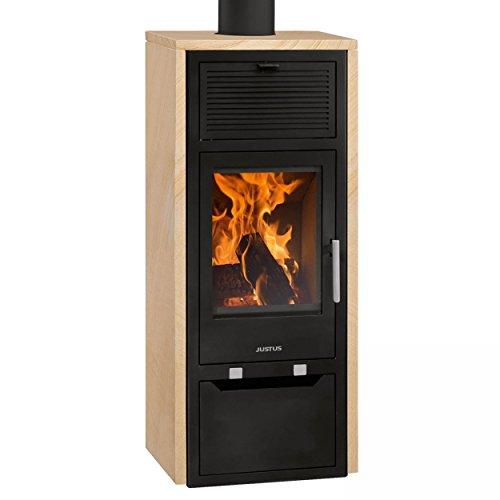 Justus Sylt wärmePLUS 4683 90 Kaminofen Sandstein Beige 6kW Holzofen Kamin Ofen (Gas Appliance Kamin)