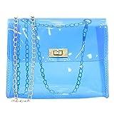 HLIYY Fashion Lady Shoulders Jelly Package Lettre Sac à Main pour téléphone...