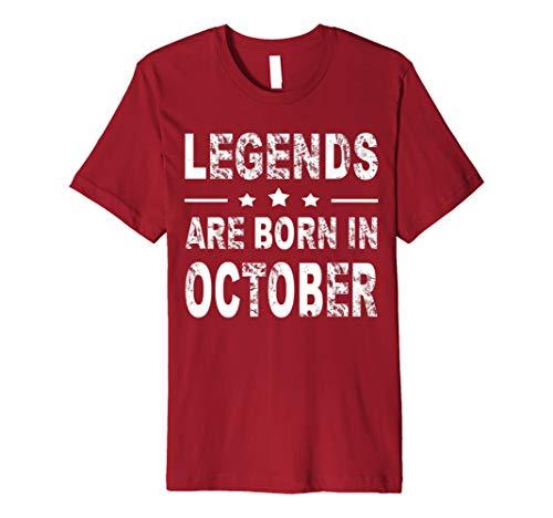 e0163d20d Legends are born in october t-shirts al mejor precio de Amazon en ...
