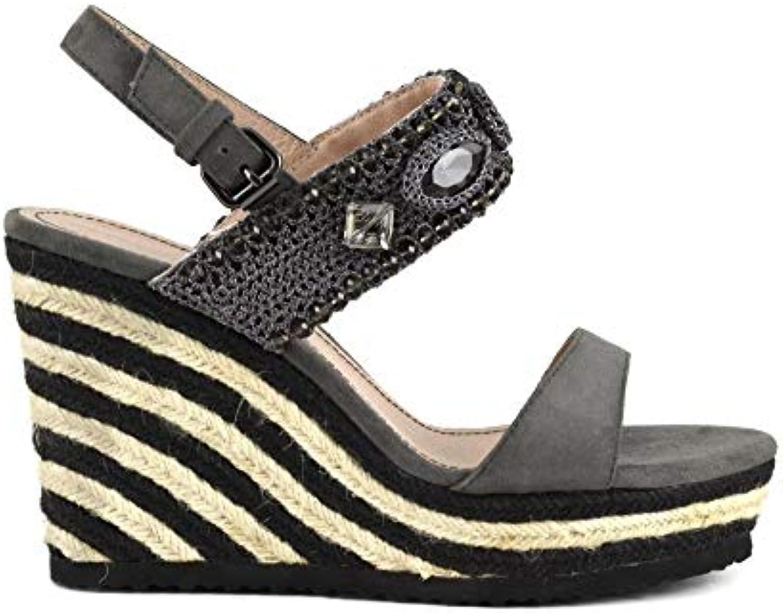 Cafènero MHG552 Sandalo Due Fasce Fasce Fasce Zeppa Corda CAMOSCIO con Pietre | Shopping Online  | Uomo/Donna Scarpa  d561e8