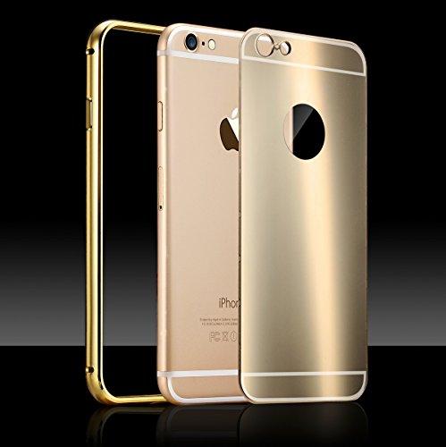 Ocean casa Apple iPhone 6/6S Custodia, Lalta qualità telaio in alluminio Custodia backplane PC contenitore metallico con, + 1 gratis salvaschermo HD per Apple iPhone 6/6S Borse cassa del telefono. -  Oro rosa