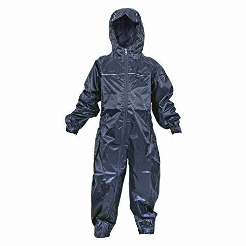 Dry Kids wasserdichter Regenanzug, für Jungen und Mädchen geeignet, aus Polyester, in Navy Blau, für Kinder zwischen 11 und 12 Jahren.