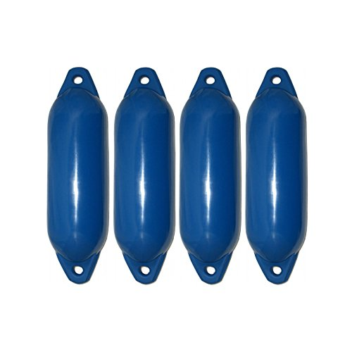 4er-Set Majoni Star 35 Fender Bootsfender blau 62 x 21 cm