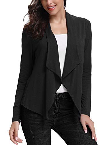 Abollria cardigan donna elegante a manica lunga golfino casual coprispalle per ufficio casa viaggio e giacca leggera per primavera estate autunno