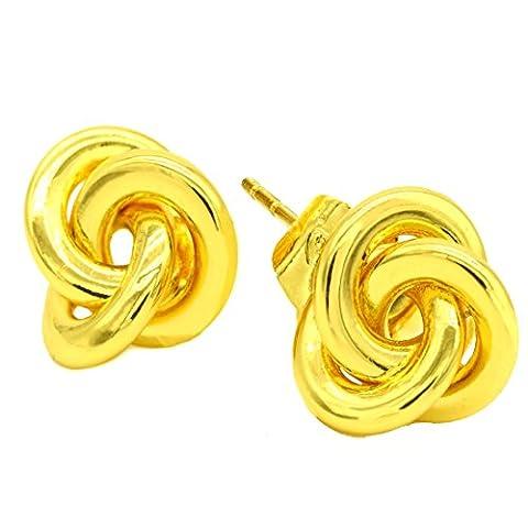 Juvel-Jewelry 24K vergoldet 3 Ringe Love Knot