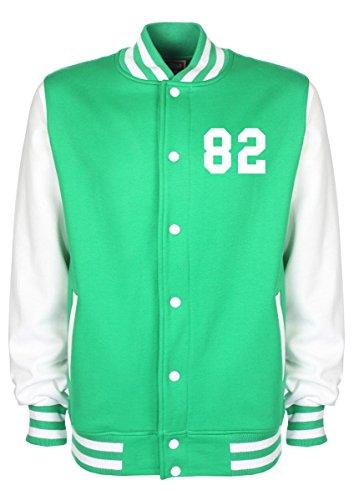 Nicki Minaj Data di nascita Varsity Jacket Green S/86,36 cm-91,44 cm