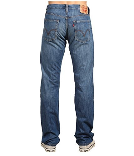 Levis Levi's® Mens 514 ™ Slim Straight Sits Below Waist Slim Fit Straight Leg Style 00514-0193 cut to avoid snugness without being too baggy. W40 L32 straight (Jeans Straight Slim 514)