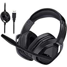 AmazonBasics Pro Gaming Headset with Microphone for PC, Black