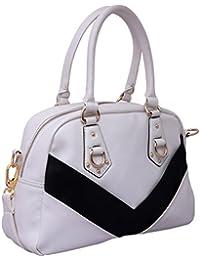 Kleio Monochrome Casual Satchel Hand Bag For Women / Girls