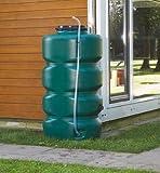 Gartentank-Set 2000 L, dunkelgrün inkl. Klarsichtschlauch