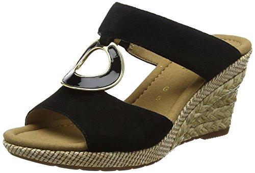 Gabor Shoes Damen Comfort Sport Pantoletten, Schwarz (Schwarz (Bast)), 40 EU