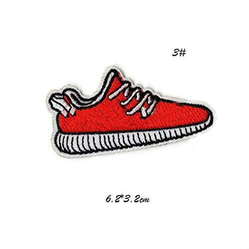 Shoppy Star - Zapatillas Deportivas con Parche Bordado de Hierro para Ropa, Parche de Moto, Pegatinas de Costura para Vaqueros, Mochila: 03