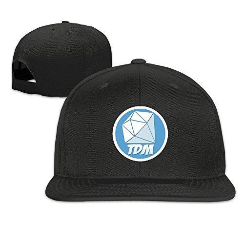 youtube-dantdm-logo-solid-gorra-bisbol-gorra-talla-nica