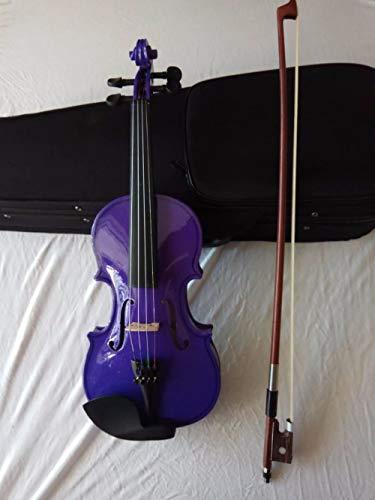 XTQDM Geige Kinder Violine 4/4 3/4 2/4 1/4 1/8 Komplettset mit Etui und Bogen, 1 8
