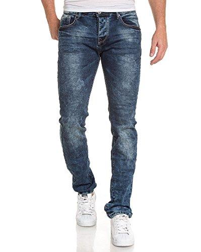BLZ jeans - Jean homme actuel délavé et froissé Bleu