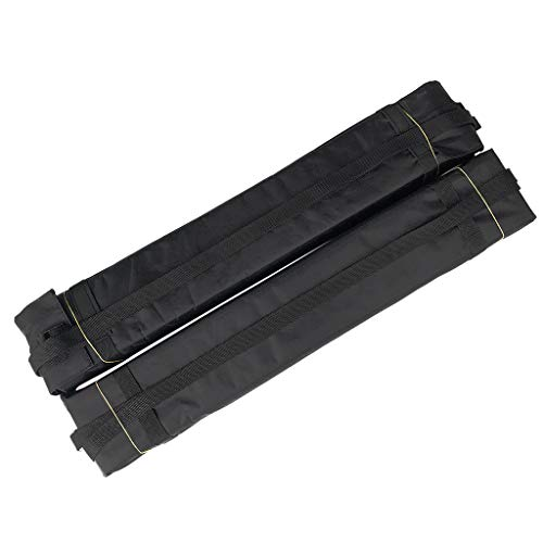 SM SunniMix 2Pcs Dachgepäckträger Pads \u0026 Straps Für Auto Surfbrett Paddle Board Kajak Kanu SUP Long Cargo Basket Gepäckträger Für Unterwegs -