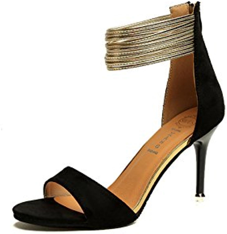 Todos Coinciden Con Zapatos Sandalias Bien Mate,Black,Eu36Cn37