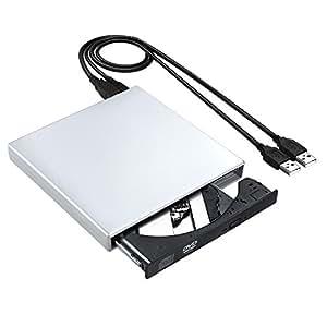 slim externer cd rw brenner omorc usb 2 0 laufwerk. Black Bedroom Furniture Sets. Home Design Ideas